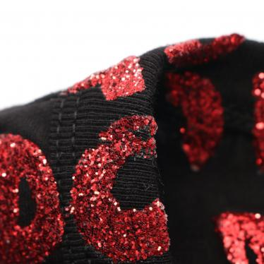MM6 MAISON MARGIELA・トップス・エイズTシャツ カットソー 黒 赤 ラメ