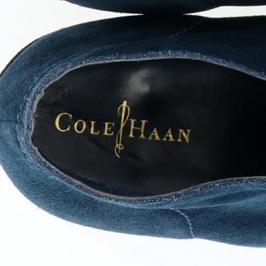 Cole Haan・シューズ・カジュアルシューズ スエード ネイビー レースアップ ウェッジソール