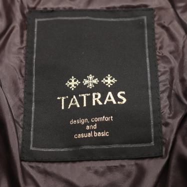 TATRAS・アウター・サリン ダウンコート ナイロン ダークブラウン フード付き