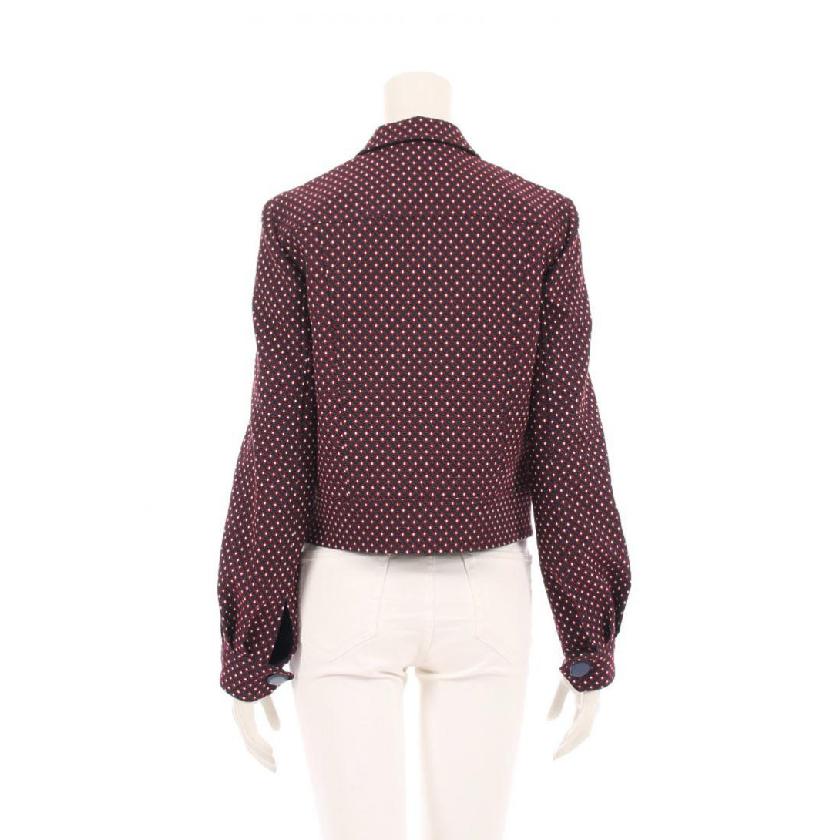 TORY BURCH・アウター・Cadyn Jacket ジャケット コットン 黒 赤 青 白