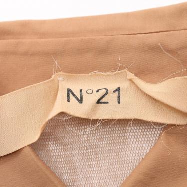 N°21・トップス・ シャツ ベージュ 切替 メッシュ