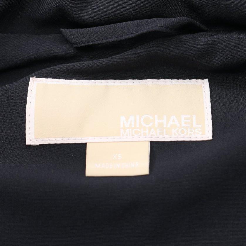 MICHAEL MICHAEL KORS・アウター・ コート ネイビー ボア ストレッチ