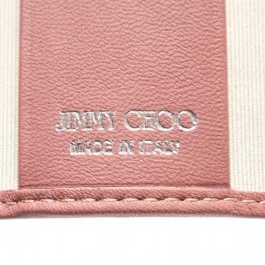JIMMY CHOO・財布・小物・ 4連キーケース レザー グレーピンク スタースタッズ