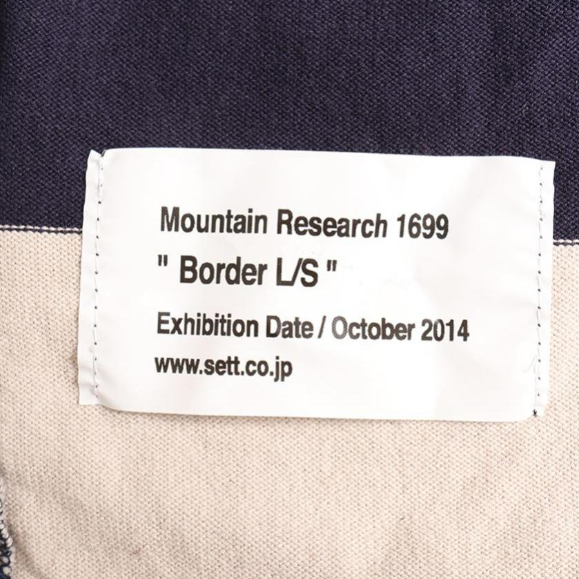 Mountain Research・トップス・BORDER L/S 長袖カットソー ボーダー柄 ネイビー ベージュ
