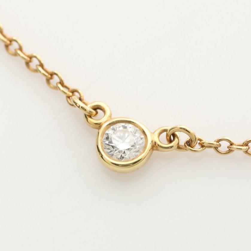 TIFFANY & Co.・アクセサリー・バイザヤード ネックレス K18YG ダイヤモンド イエローゴールド エルサペレッティ 1Pダイヤ