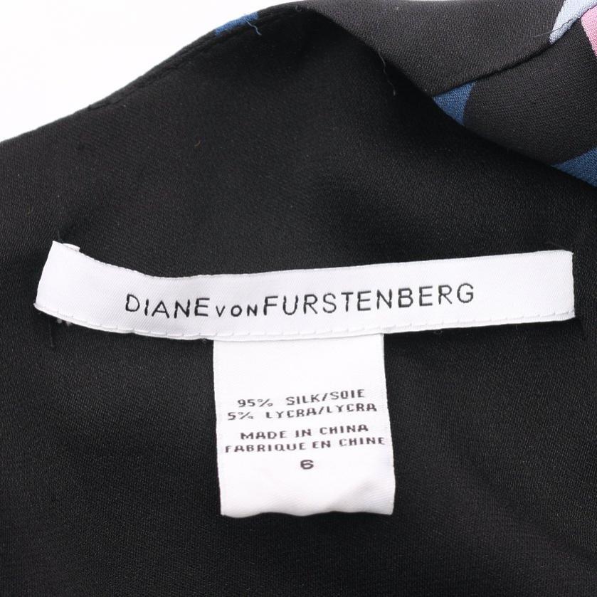 DIANE von FURSTENBERG・ワンピース・INGRID ワンピース シルク 黒 ネイビー 水色
