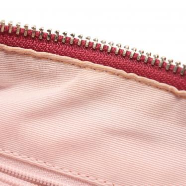 COACH・バッグ・シグネチャー ショルダーバッグ キャンバス エナメルレザー ベージュ ピンク 2WAY