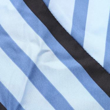 DIANE von FURSTENBERG・ワンピース・ワンピース ストライプ柄 シルク 水色 青 黒 ラッフル