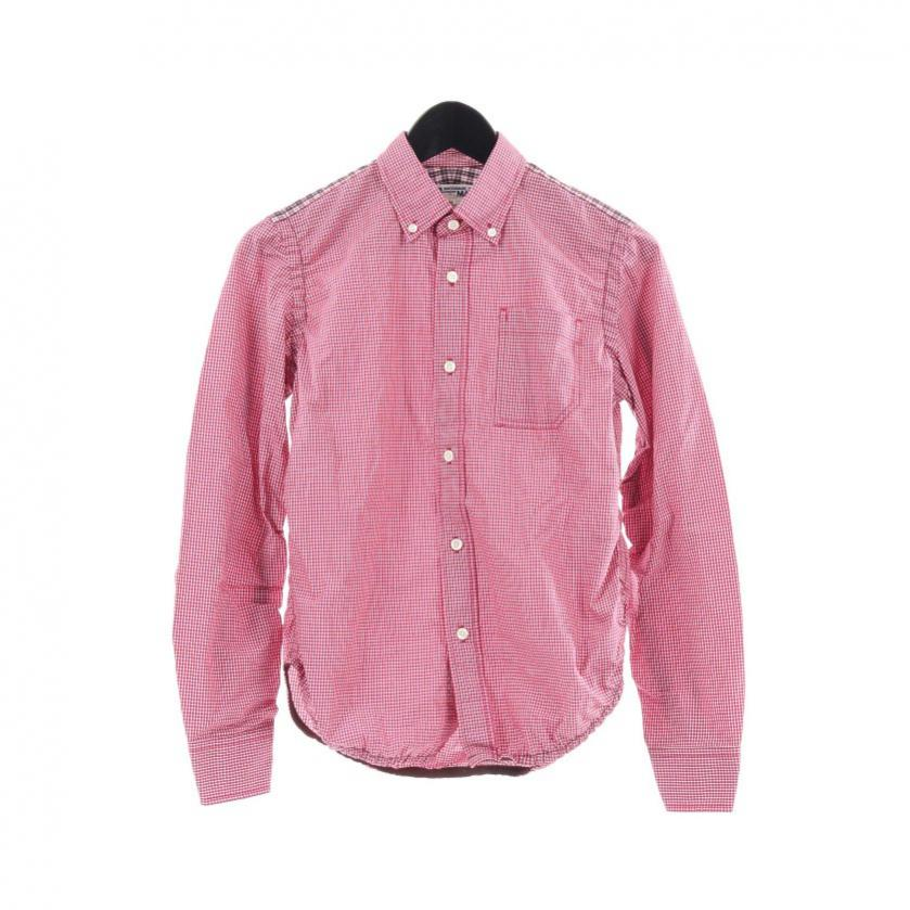 JUNYA WATANABE COMME des GARCONS MAN・トップス・ シャツ チェック柄 ピンク マルチカラー シャーリング ショルダー柄切替