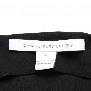 DIANE von FURSTENBERG・ワンピース・NEW JULIAN TWO ラップワンピース レーヨン 黒