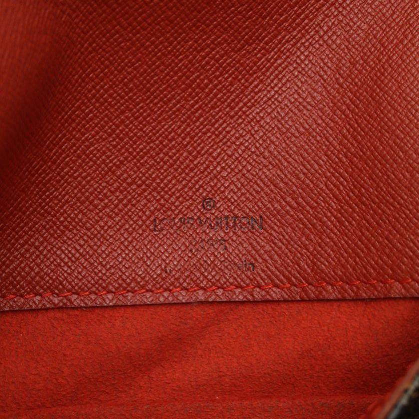 LOUIS VUITTON・バッグ・ミュゼット サルサ ロングストラップ ダミエエベヌ ショルダーバッグ PVC レザー 茶