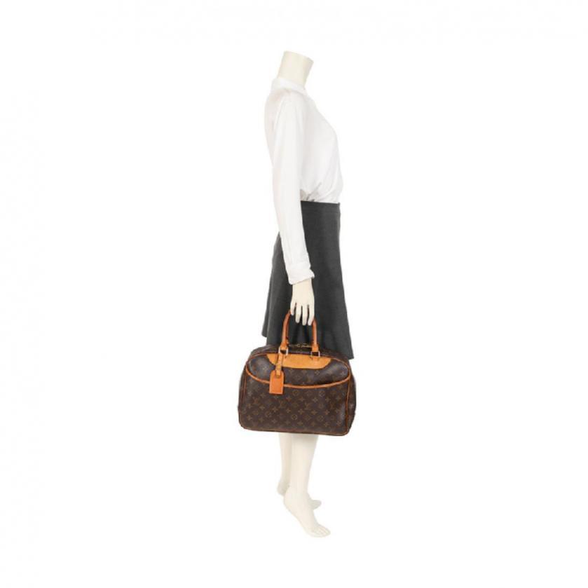 LOUIS VUITTON・バッグ・ドーヴィル ボーリングヴァニティ モノグラム ハンドバッグ PVC レザー 茶色