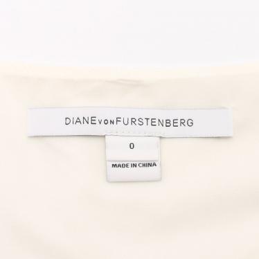 DIANE von FURSTENBERG・ワンピース・BEVIN ワンピース ノースリーブ ひざ丈 アイボリー