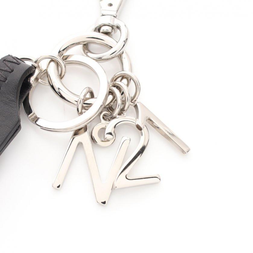 N°21・財布・小物・ バッグチャーム レザー 黒 キーリング付き