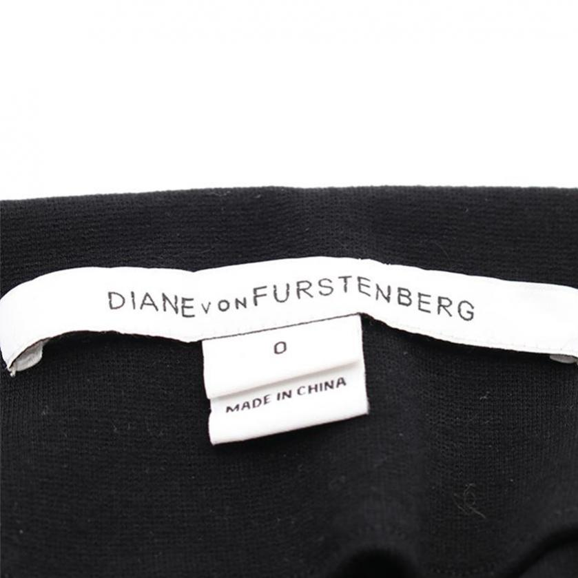 DIANE von FURSTENBERG・ワンピース・KIRBY ワンピース シルク 黒 マルチカラー