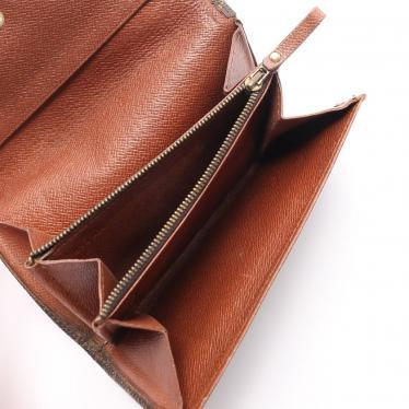 LOUIS VUITTON・財布・小物・ポルトモネ ジップ モノグラム 二つ折り財布 PVC 茶色 旧型