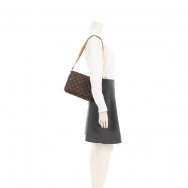 LOUIS VUITTON・バッグ・ミュゼットタンゴ ショートストラップ モノグラム ショルダーバッグ PVC レザー 茶色