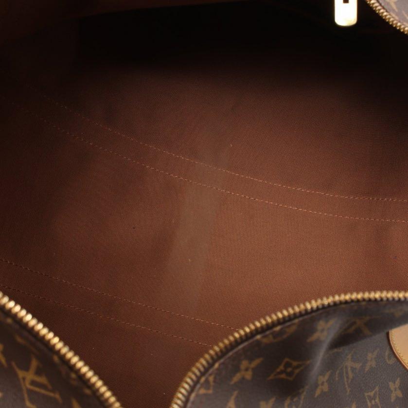 LOUIS VUITTON・バッグ・キーポル50 モノグラム ボストンバッグ PVC レザー 茶色