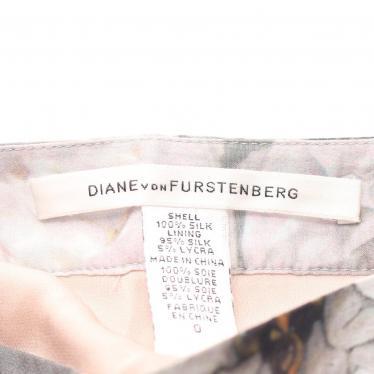 DIANE von FURSTENBERG・ボトムス・HONARE スカート 総柄 シルク グレー マルチカラー ティアード