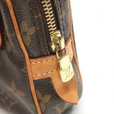 LOUIS VUITTON・バッグ・マルリーバンドリエール モノグラム ショルダーバッグ PVC レザー 茶色