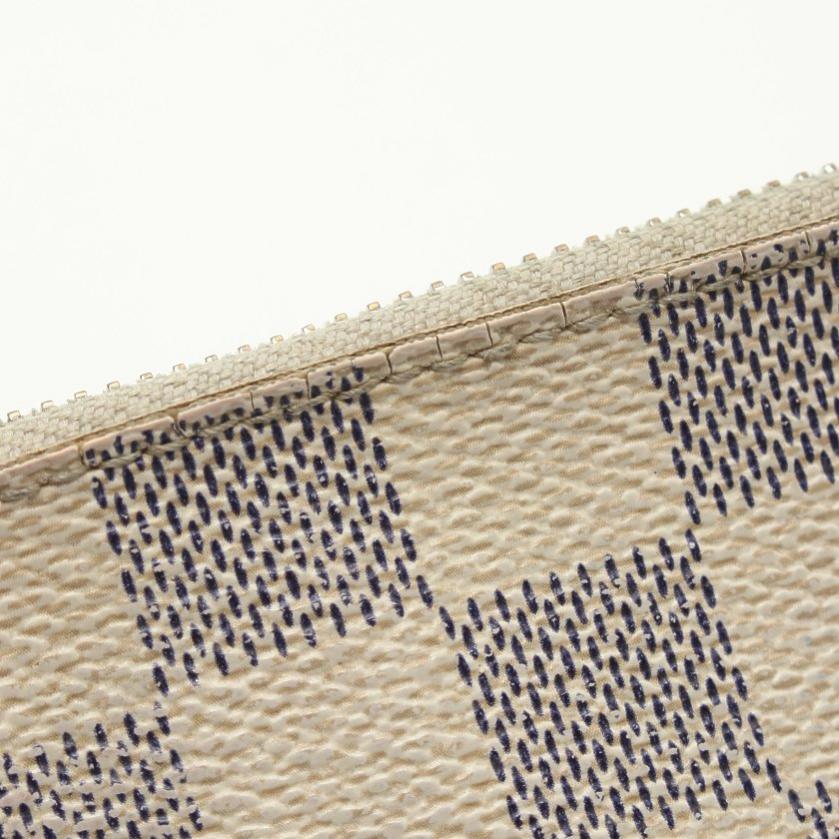 LOUIS VUITTON・財布・小物・ポシェット クレ ダミエアズール コインケース PVC 白 キーリング付き
