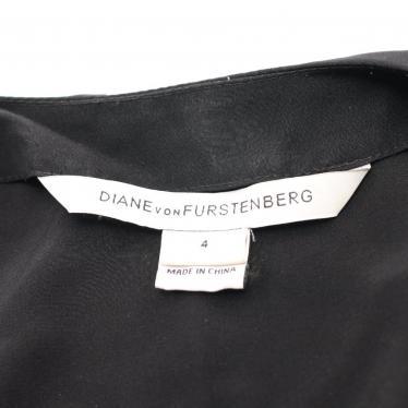 DIANE von FURSTENBERG・ワンピース・AIKO ラップワンピース シルク 黒