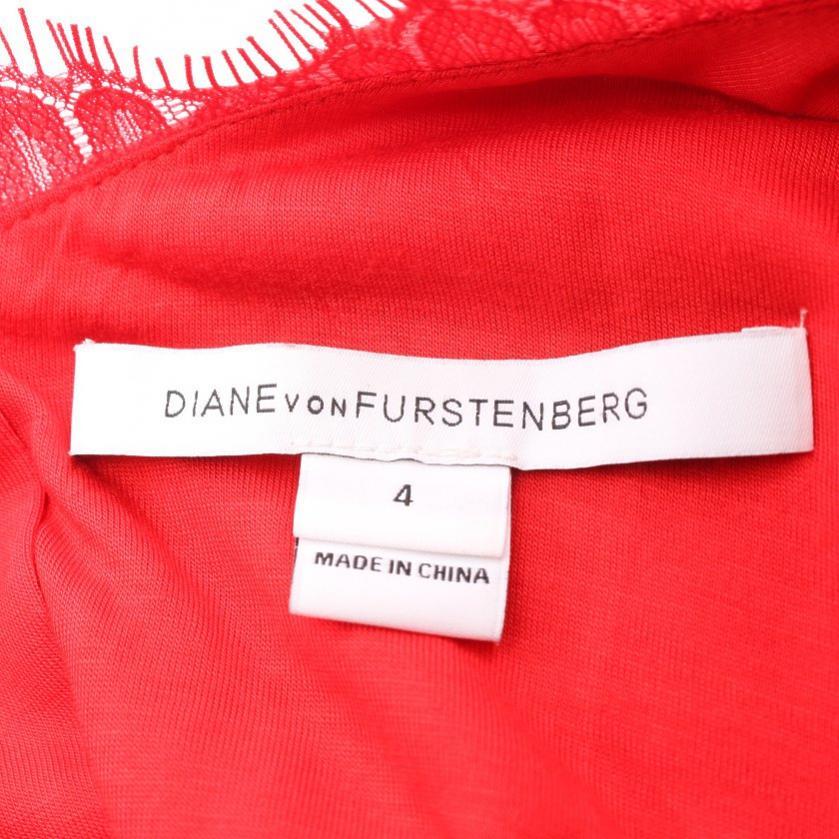 DIANE von FURSTENBERG・ワンピース・Colleen Dress ワンピース 花柄 レース 赤
