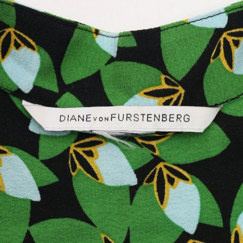 DIANE von FURSTENBERG・ワンピース・TUNISA ワンピース 黒 緑 マルチカラー