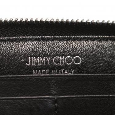 JIMMY CHOO・財布・小物・FILIPA フィリパ ラウンドファスナー長財布 レザー 黒 スタースタッズ