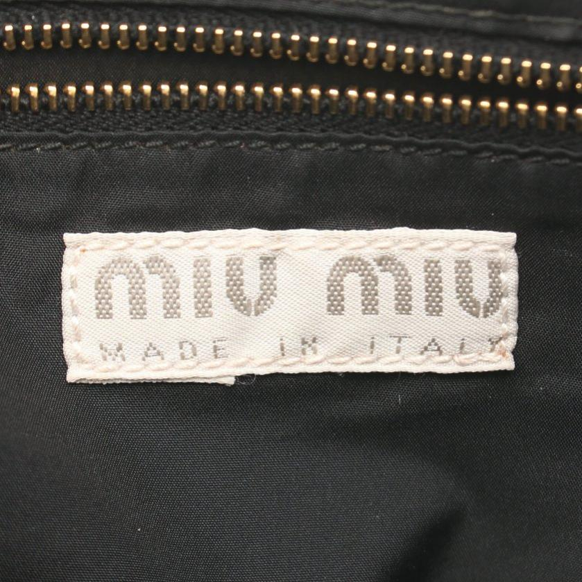 miu miu・バッグ・ ショルダーバッグ レザー ピンク 黒 マルチカラー 編み込み