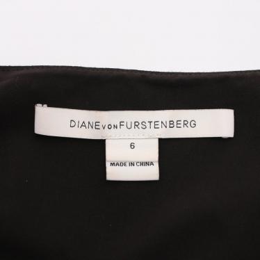 DIANE von FURSTENBERG・ワンピース・LIVVY DRESS ワンピース ノースリーブ 黒 アイボリー