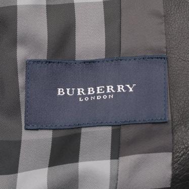 BURBERRY LONDON・アウター・ テーラードジャケット ラムレザー 黒