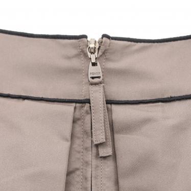 FOXEY・ボトムス・ スカート シルク グレーブラウン 黒 リボン