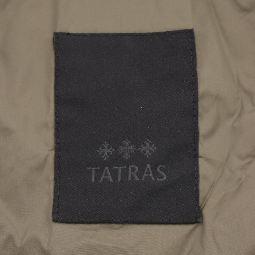 TATRAS・アウター・ ダウンジャケット スタンドカラー カーキ 袖切替