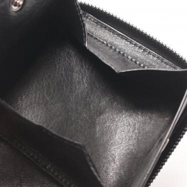 JIMMY CHOO・財布・小物・LAWRENCE ローレンス ラウンドファスナー財布 レザー 黒