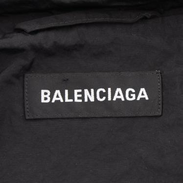 BALENCIAGA・アウター・ ウィンドブレーカー ナイロン 黒 フード付き ロゴ 19SS