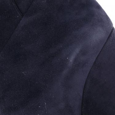 JIMMY CHOO・シューズ・142 CARTEL ニーハイブーツ スエード ネイビー ウェッジソール