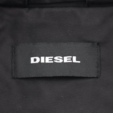 DIESEL・アウター・ ボンバージャケット スタンドカラー 黒 マルチカラー ワッペン