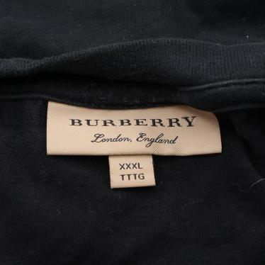 BURBERRY・トップス・Tシャツ カットソー ロゴ 刺繍 黒 赤 白