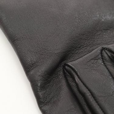HERMES・財布・小物・手袋 グローブ レザー スエード 黒 ポケット付き