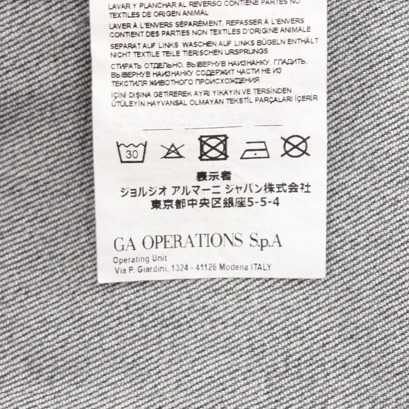 EMPORIO ARMANI・アウター・ ジャケット 刺繍 デニム グレー フラワーモチーフ