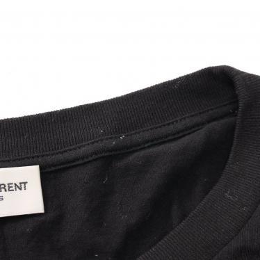 SAINT LAURENT PARIS・トップス・Tシャツ カットソー 黒 マルチカラー スモーキングリップ