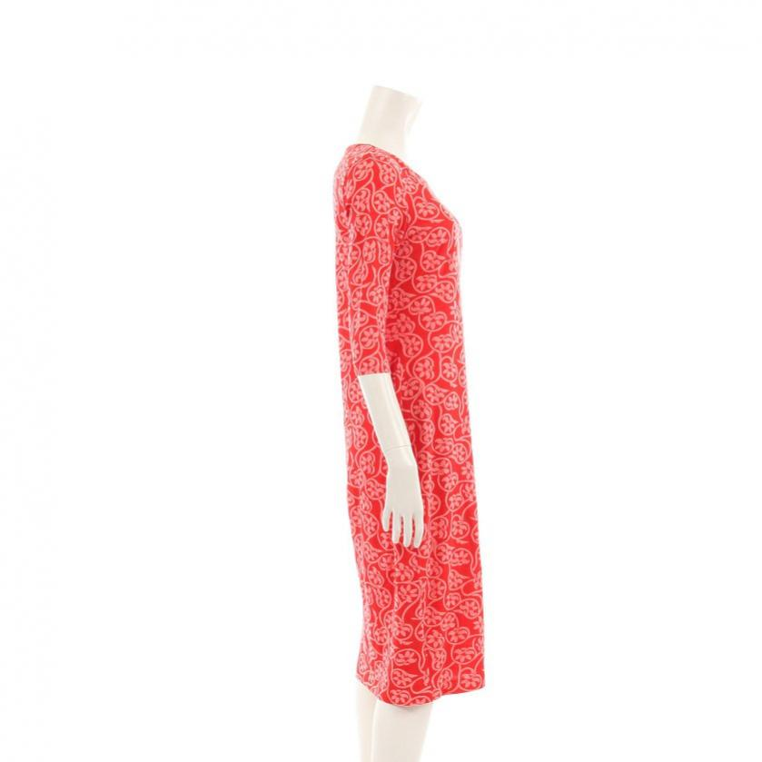DIANE von FURSTENBERG・ワンピース・Saihana Dress ワンピース 花柄 七分袖 コットン シルク 赤