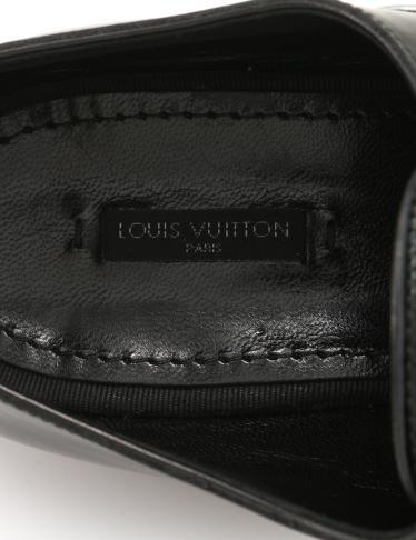 LOUIS VUITTON・シューズ・バーティゴ・ラインダービー ドレスシューズ エナメルレザー 黒 シルバー