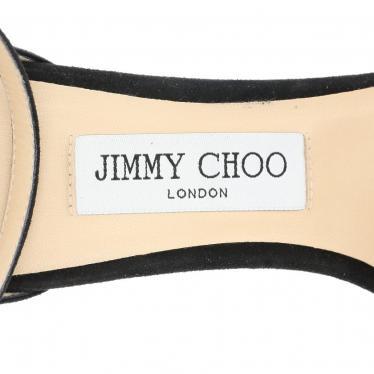 JIMMY CHOO・シューズ・MISTY 100 アンクルストラップサンダル スエード 黒