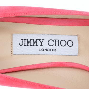 JIMMY CHOO・シューズ・Romy100 パンプス スエード ピンク ポインテッドトゥ