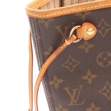 LOUIS VUITTON・バッグ・ネヴァーフルPM モノグラム トートバッグ PVC レザー 茶色