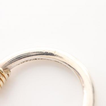 TIFFANY & Co.・アクセサリー・バンドウィズ 2ワイヤー リング 指輪 SV925 K18YG シルバー イエローゴールド