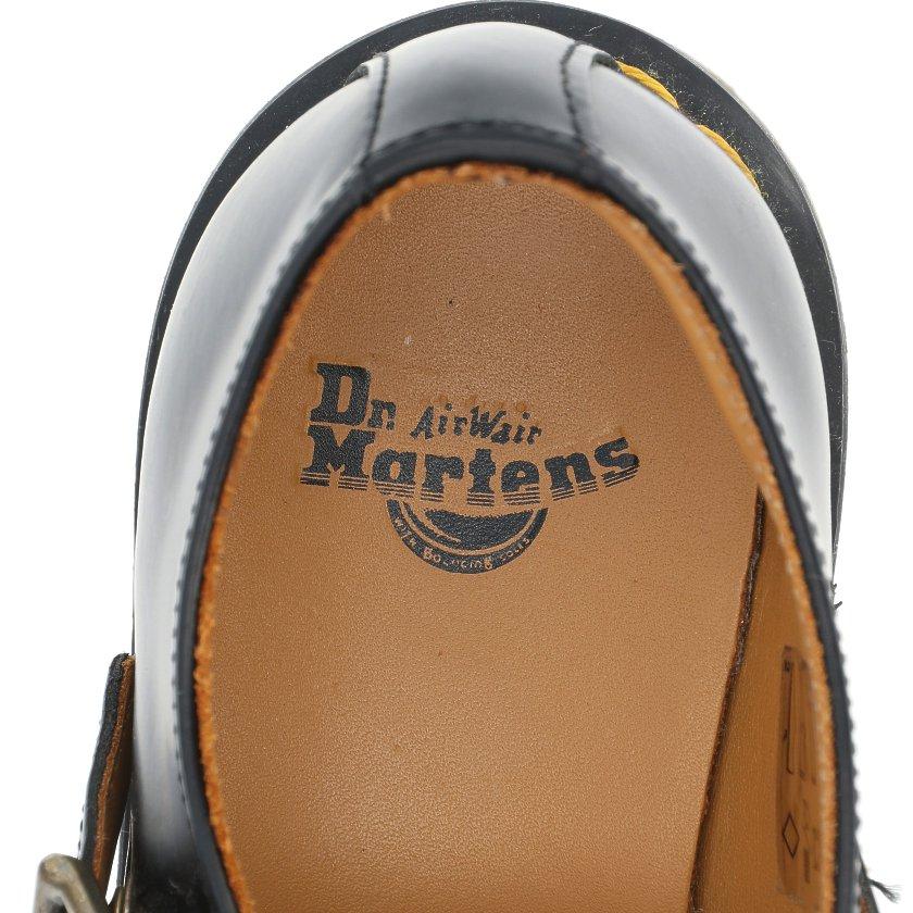 Dr.Martens・シューズ・POLLEY Tバーシューズ カジュアルシューズ レザー 黒