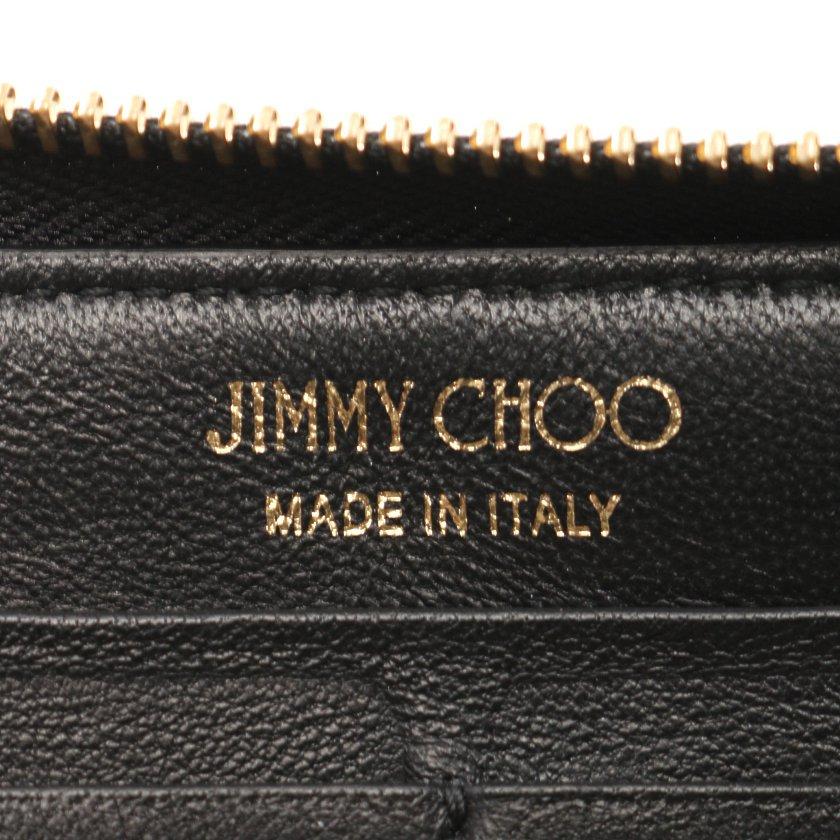 JIMMY CHOO・財布・小物・PIPPA ラウンドファスナー長財布 レザー 黒